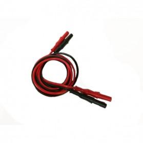 Paire de câbles professionnels avec pinces inox